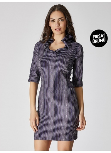 Vekem-Limited Edition Elbise Mor